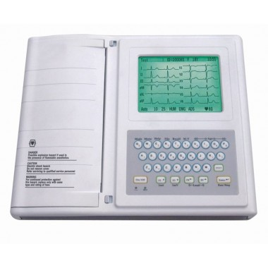 Digital Twelve channel ECG machine ECG-1212A